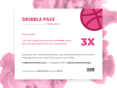 Dribbble Pass