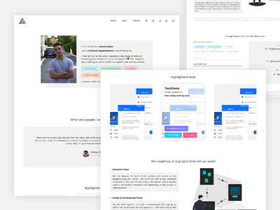 Full Stack Digital Marketer Portfolio Homepage front end design front end portfolio colors white clean ux ui minimal simple design web  design web