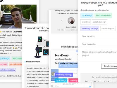 Full Stack Digital Marketer Portfolio Mobile Homepage mobile landing minimal white simple ux ui website