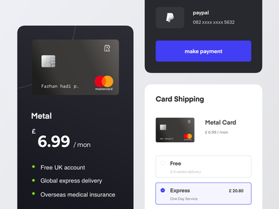 Request a new card ux ui banking website banking app credit card payment revolutionary finctech finance digitalbanking banking revolut