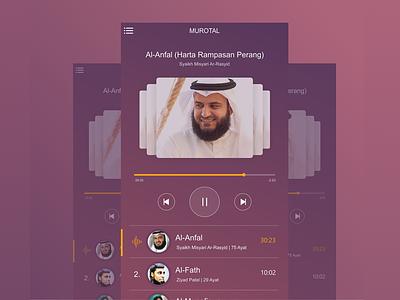 Muroja'ah Apps quran koran murotal ux mobile design ui design interface