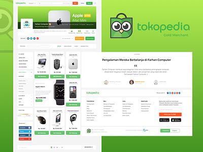Tokopedia UI Challange interface web design tokopedia shot e-commerce design ux ui shop