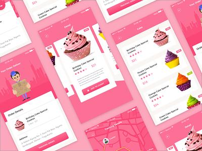 Bakery UI Challange maps tracking design flat cake shop ux ui bakery