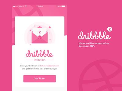 Dribbble Invitation web design mobile ui announce ticket debut shot invite invitation dribbble