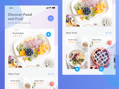 Resto Mobile Design ecommerce shop restaurant landing debut mobile food resto