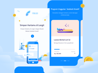 Crowdfunding Mobile Version illustration icon dribbble debut giving crowdfunding page landing website color ui mobile