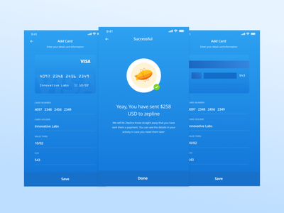 Banking Apps #2 transfer money blue payment illustration mobile card debit paypal dribbble apps bank