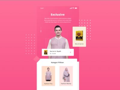 Moslem Store fashion shop marketplace ecommerce store color mobile landing moslem