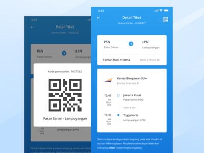 E-Ticket Train flight qrcode travel color mobile shop train ticket