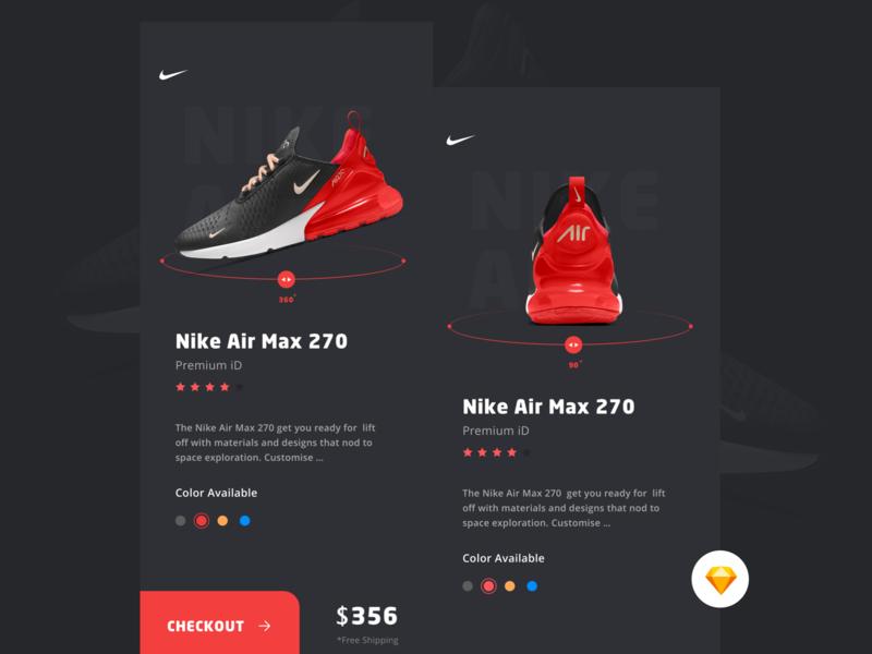 Nike Store ux landing dribbble nike running mobile uidesign shoes nike air max nike store nike
