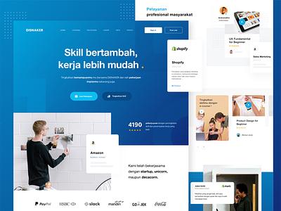 DISNAKER case study branding job seeker job landing page goverment mobile website dribbble design
