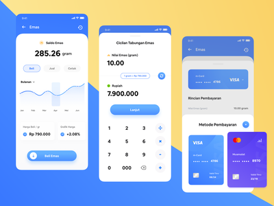 Gold Investment color dribbble mobileui money credit card bank payment saving fintech investment