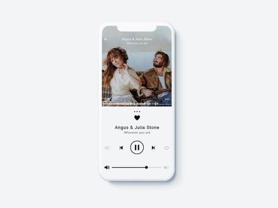 Daily UI #009 - Hint: Design a music player