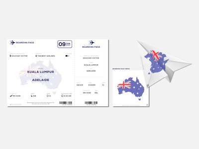 dailyUI024 - Hint: Hint: Design a boarding pass
