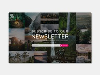 DailyUI 026 - Hint: Design a subscribe form, button,...