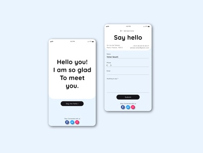 DailyUI028 - Hint: Design a Contact Us page or form
