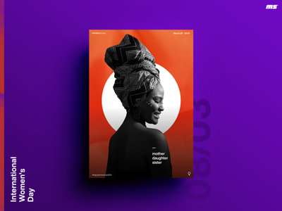 Women's day posterdesign layout graphicdesign