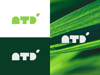 NTD logo typography flat design vector logo