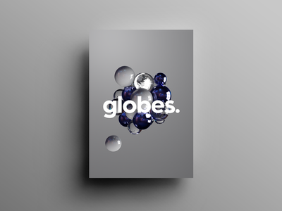 Globes cinema 4d 3d graphic design design