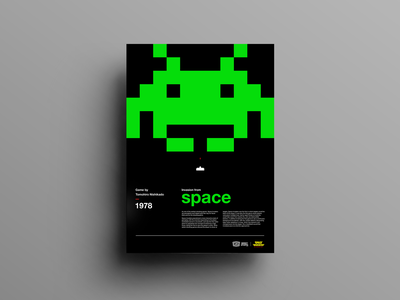 Space Invaders grid layout swissdesign graphicdesign design layout typography posterdesign