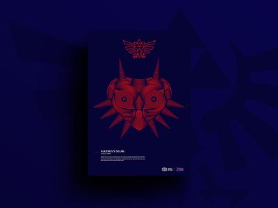 Majora's mask posterdesign vector layout illustration graphicdesign design