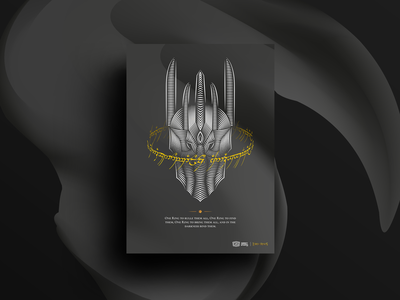 Lord Of The Rings Poster typography vector poster graphicdesign design