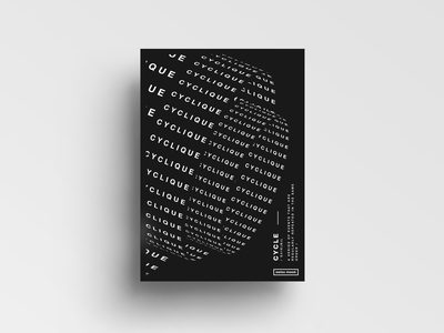 Cyclique layout posterdesign typography graphicdesign design