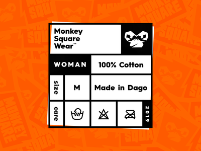 Monkey Square t-shirt label