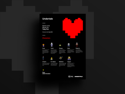 Undertale poster simpler design posterdesign layout typography graphicdesign