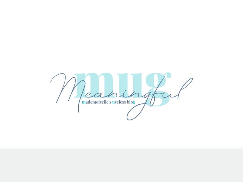 Logo Blog - Meaningful MUG brand branding design logo simple logo alphabet manuscript personnal organisation travel lifestyle grey blue mint teal blog branding logo