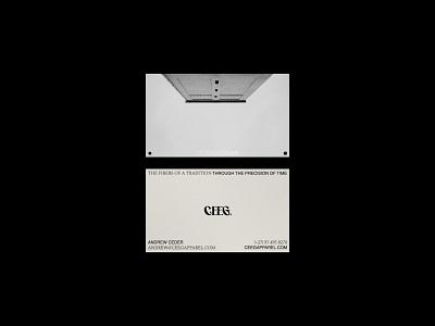 CEEG apparel fashion brand collateral brand identity visual design business card typography logo design branding