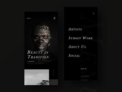 Artsins Studio _ Mobi ux ux design photography menu portfolio uidesign webdesign website web ui