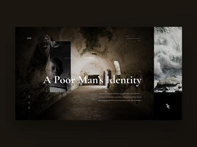Josh Rowe portfolio landing uiuxdesign uidesign photography cinematography cinema website logo design web ux ui