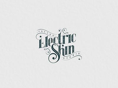 Electric Skin tattoo lettering type illustration vector icon typography design logo branding