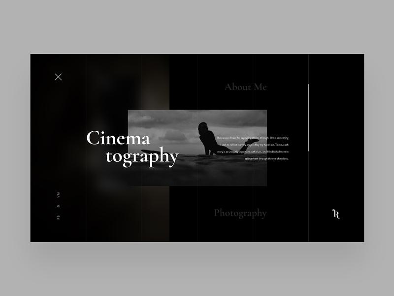 Josh Rowe uxdesign uidesign cinema cinematography ui product concept website design web ux