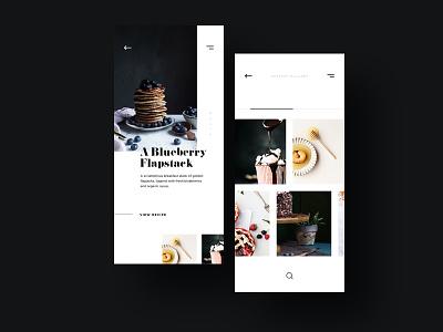 MamasCooking dessert food app food recipe ecommerce app product concept website web design branding ux ui
