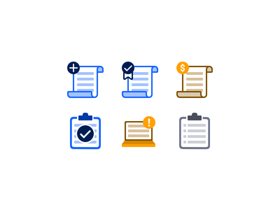 Online Quote Icons form web ui insurance illustration icons