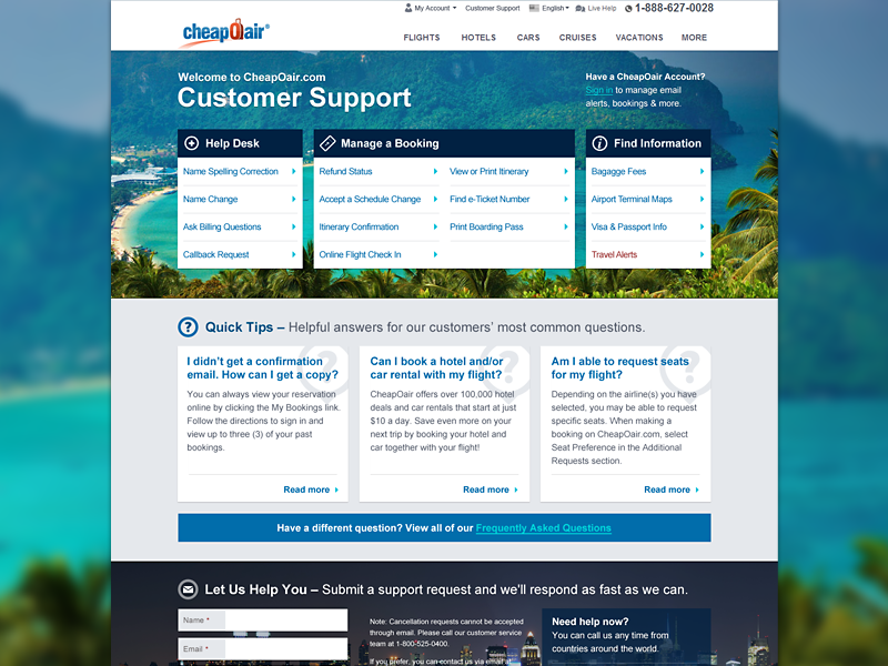 Let Us Help You travel ui flat metro help desk customer service form faq corporate
