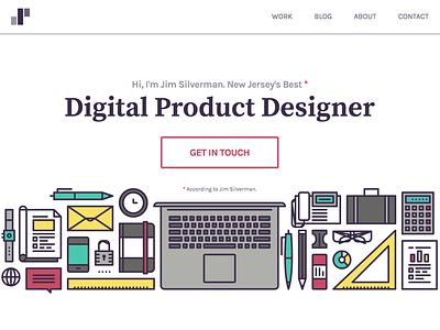 2016 - Portfolio Redesign personal redesign typography responsive web ui portfolio
