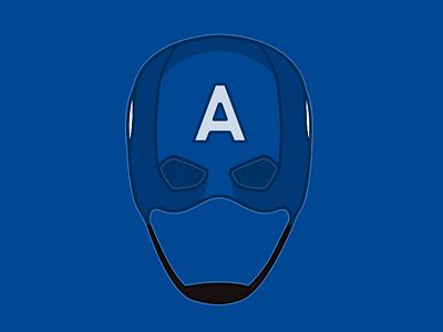 Cap'n captain america superhero marvel illustration helmet flat comics