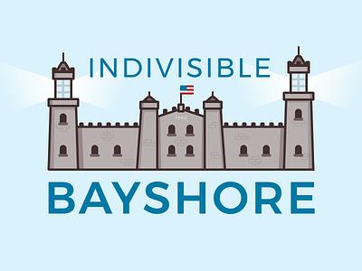 Indivisible Logo - Take 2 historic political branding light house logo lighthouse illustration