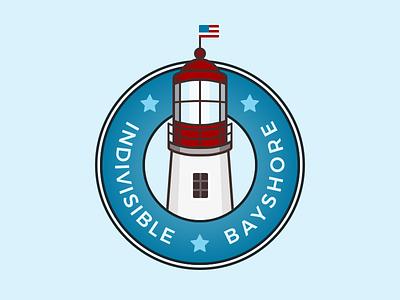 Indivisible Logo - Final Cut stars political light house illustration round logo lighthouse logo