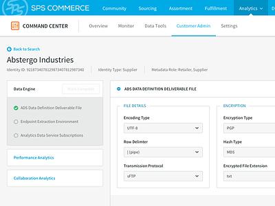 Data Engine ui admin internal tool settings forms gray administration enterprise