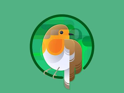 Robin geometric angular robin bird