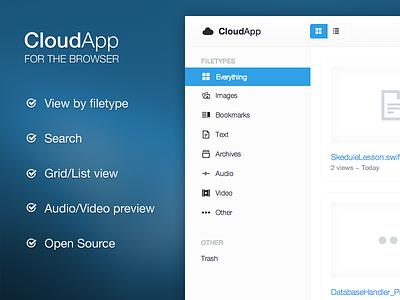 [Available] CloudApp - A Better Webclient cloudapp web client php ui ux frontend open-source