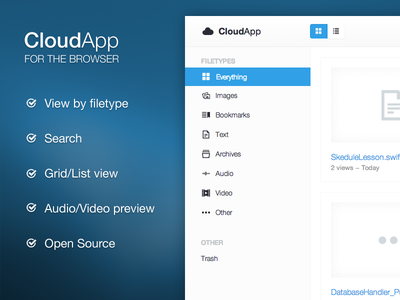 [Available] CloudApp - A Better Webclient