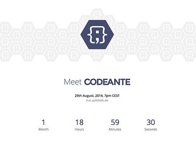 Codeante - Launching Very Soon codeante launch apfeltalk livestream landing countdown