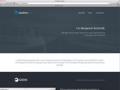 My New Portfolio portfolio bluefirex design layout landing onepage