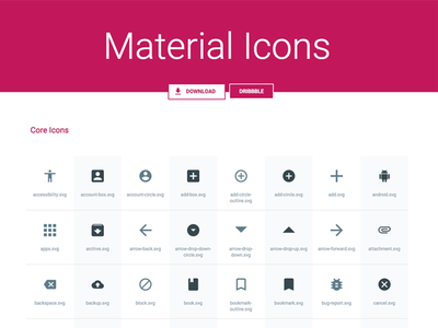 [SVG, Sketch] Material Icons Pack material google android svg icons resource freebie sketch