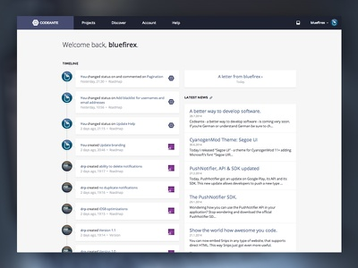 Codeante - User Dashboard codeante project management dashboard timeline